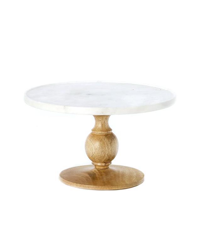 Terrain Marble & Wood Cake Stand