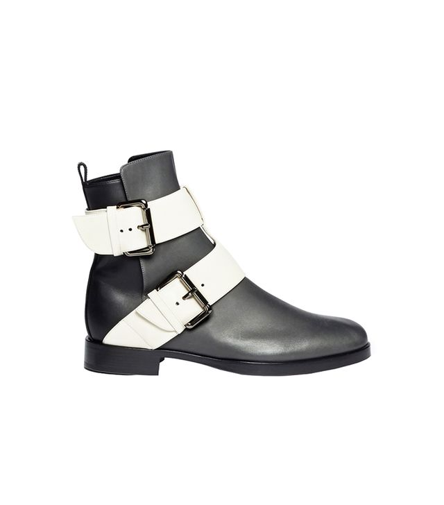 Pierre Hardy Colourblock Double Buckle Ankle Boots