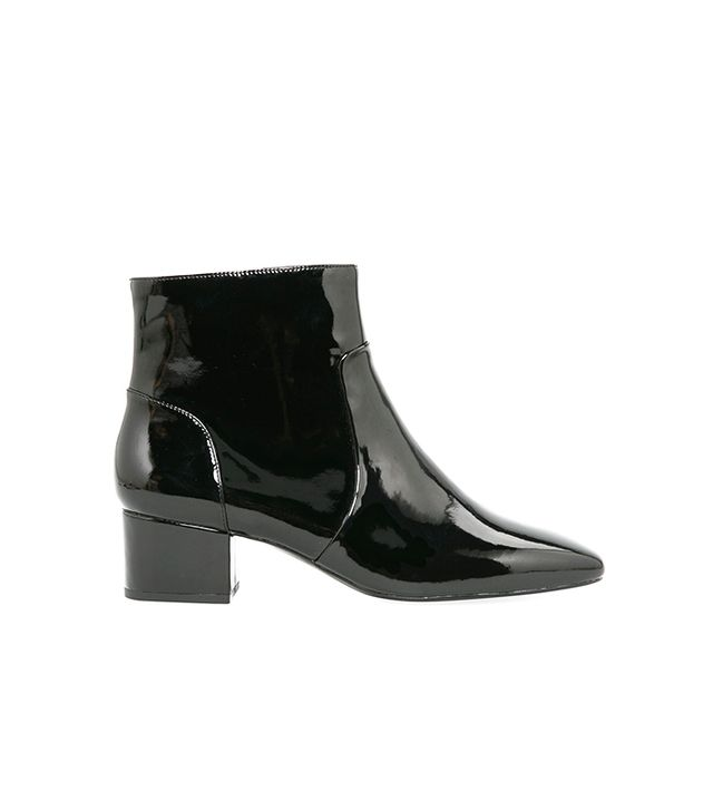 Mango Patent Ankle Boots