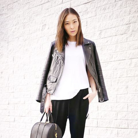 Stop It Right Now Jane Min Street Style Leather Jacket