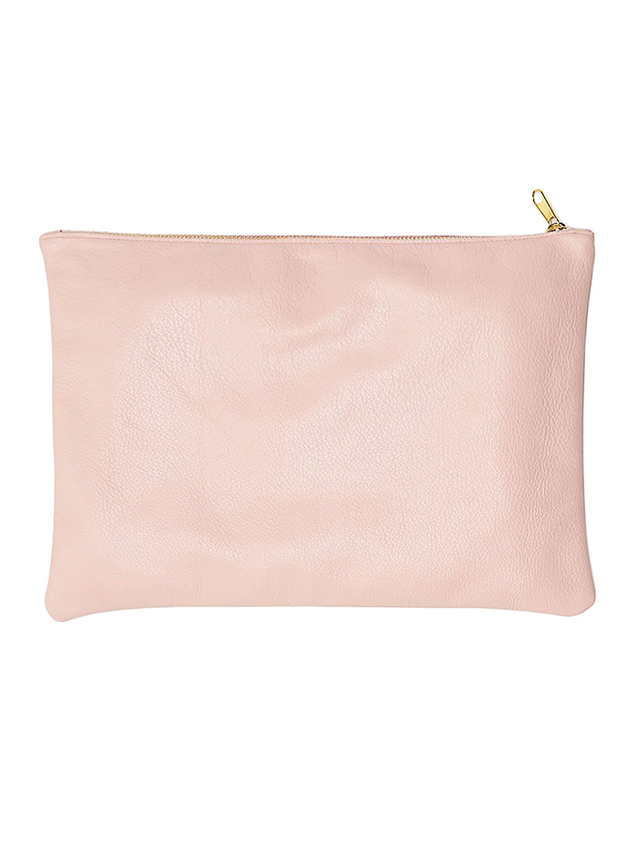 American Apparel Medium Leather Carry-All Pouch