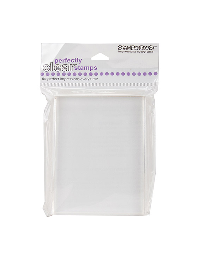 Stampendous Perfectly Clear Stamp Block