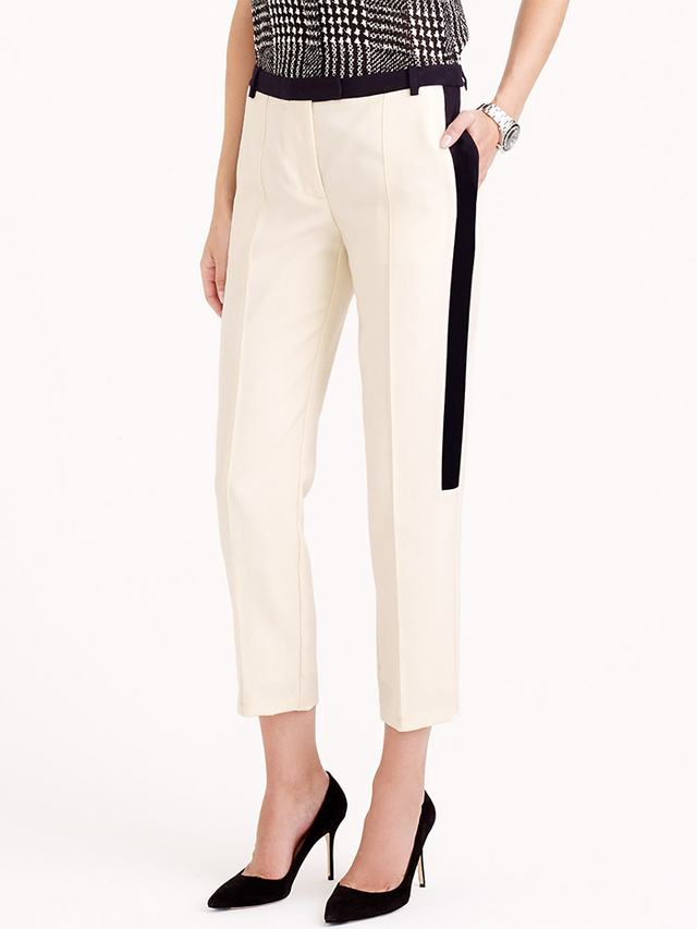 J.Crew Collection Cropped Tuxedo Pants