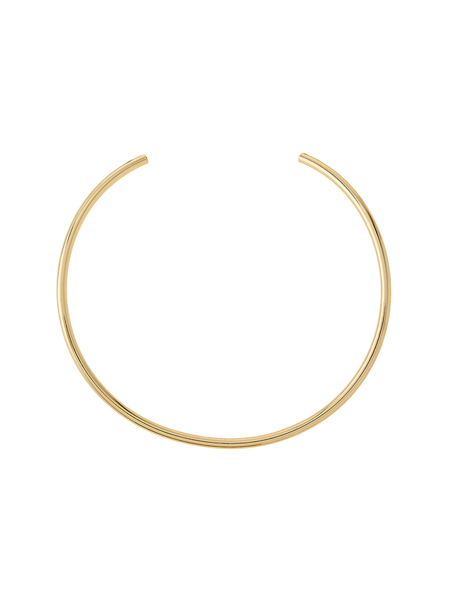 Jules Smith Americana Curved Golden Choker Necklace