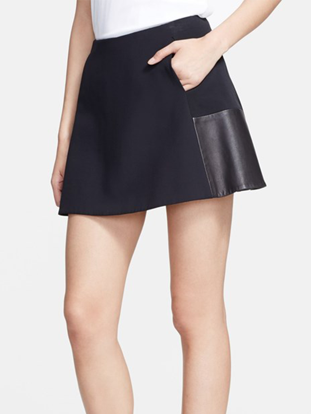 rag & bone Montrose Leather Panel Miniskirt