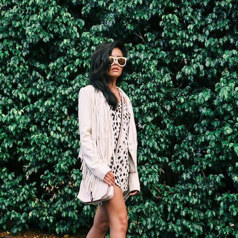 Lust For Life Olivia Lopez Fringe Leather Jacket Street Style