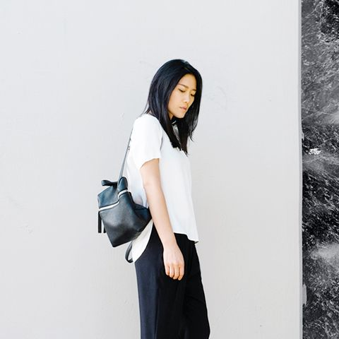 Ann Kim Andy Heart Backpack Street Style