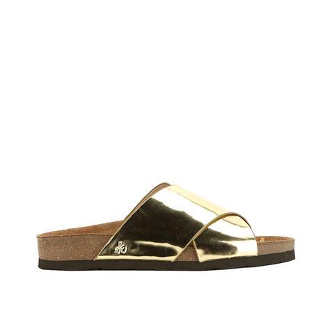 Adora Metallic Slide Sandals