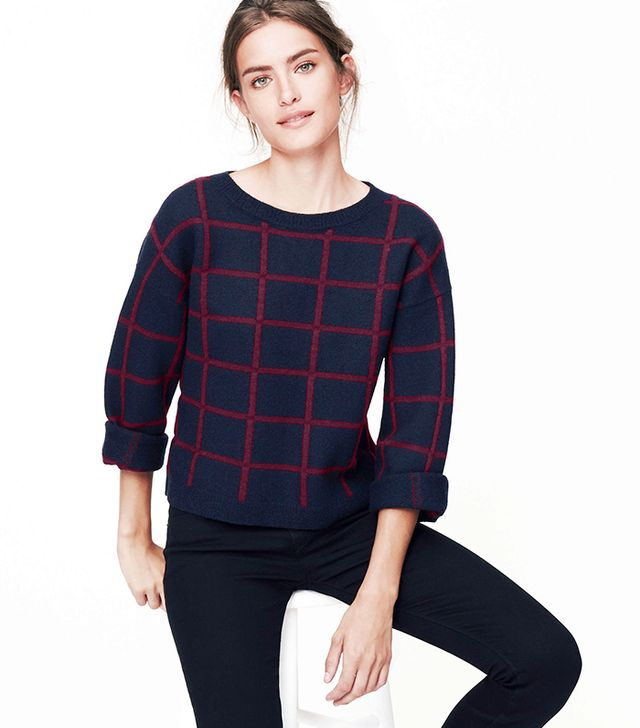 Loft Windowpane Sweater