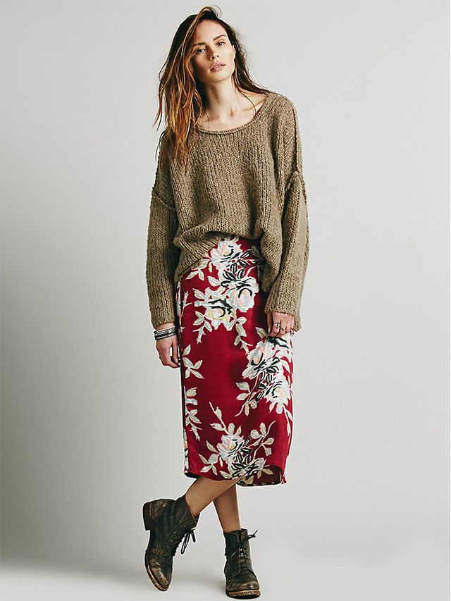 Free People Lax Print Skirt