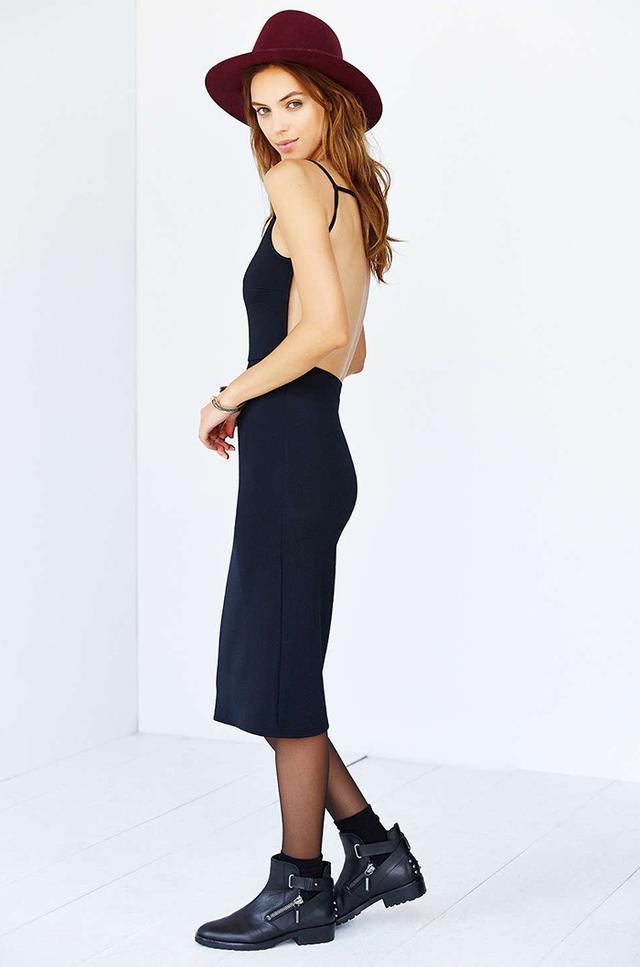 Oh My Love Textured Bodycon Midi Dress
