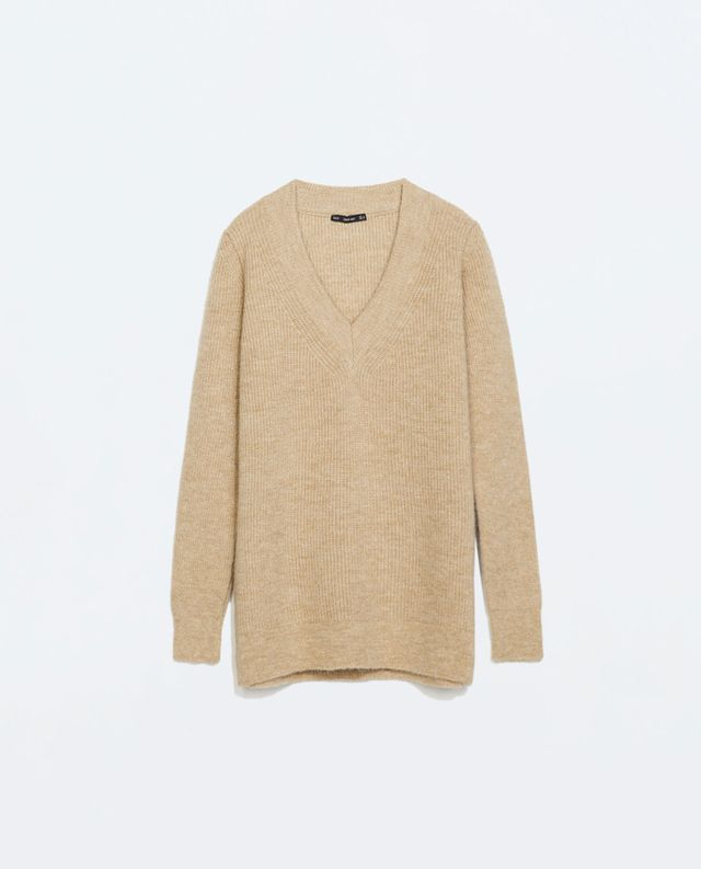 Zara Long V-Neck Sweater