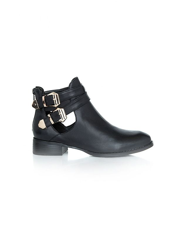Missguided Rubika Buckle Cut Out Boots