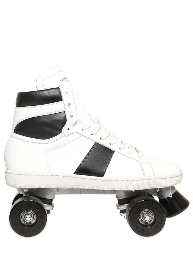 Saint Laurent Leather Roller Skates