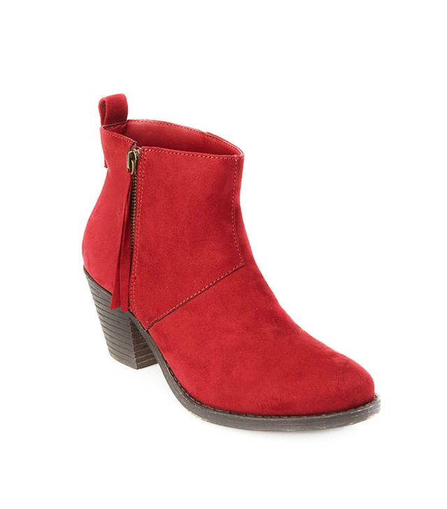 Forever 21 Zippered Faux Suede Booties