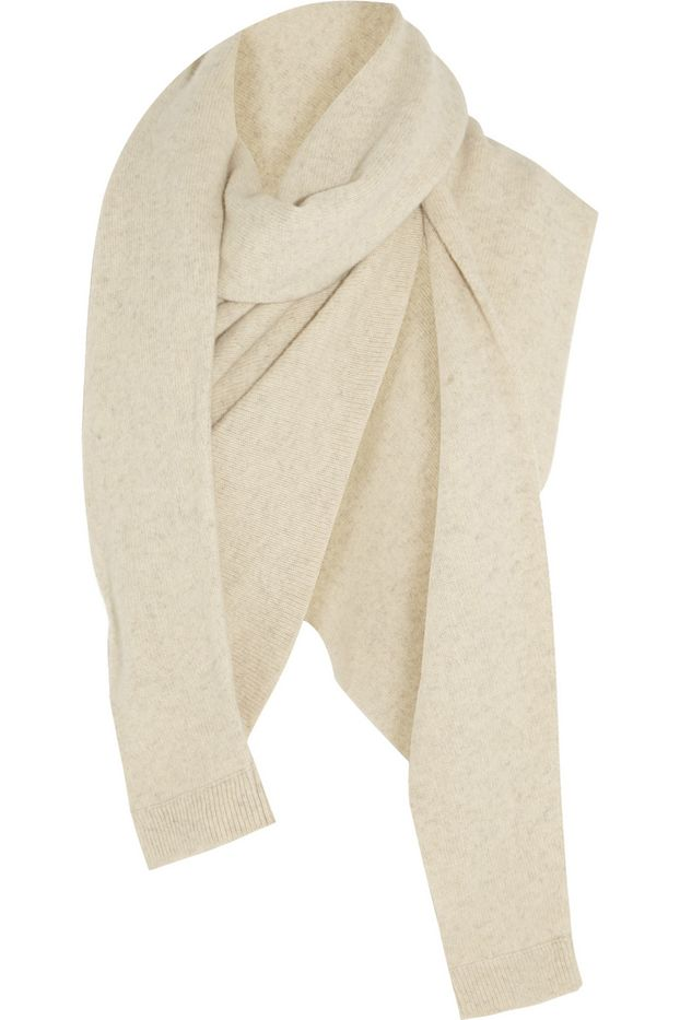 Christopher Lemaire Asymmetric Yak And Merino Wool-Blend Scarf
