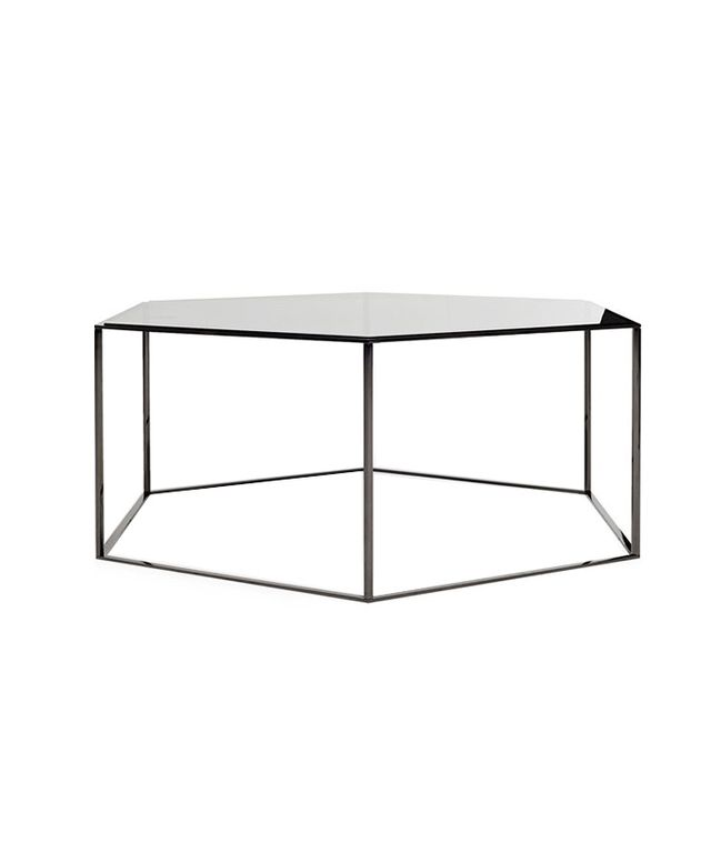 ABC Carpet & Home Dark Hexagonal Cocktail Table