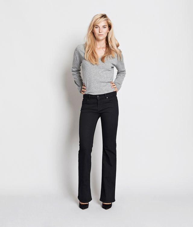 Envii by Pernille Teisbæk Collection Frisca Flared/Low Black P 1670 Jeans