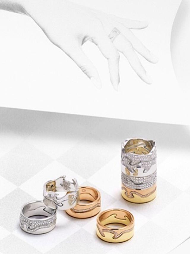 Georg Jensen Gold And Diamond Fusion Ring