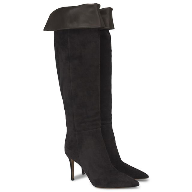 Gianvito Rossi Over The Knee Suede Boots
