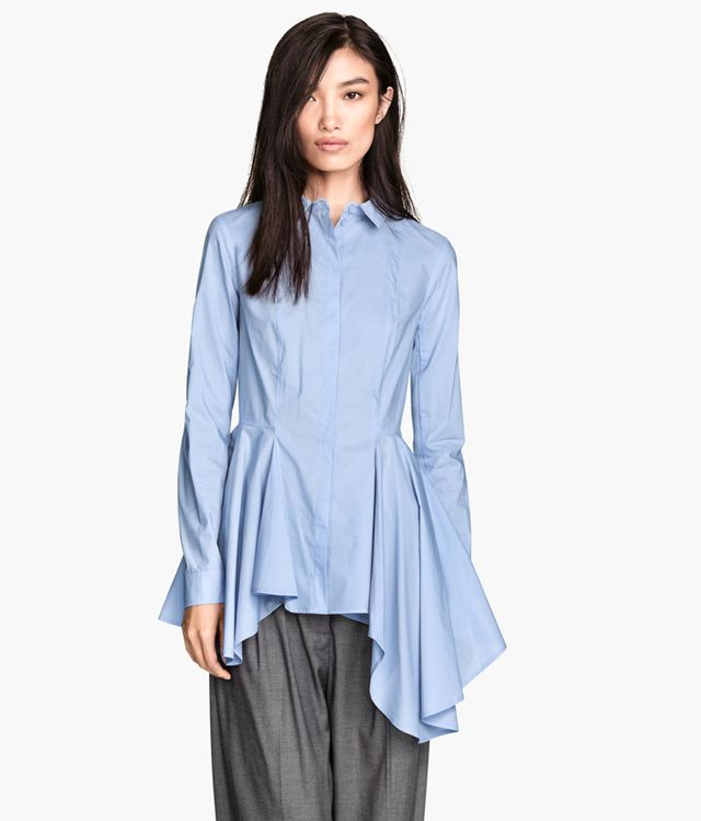 H&M Asymmetric Cotton Blouse