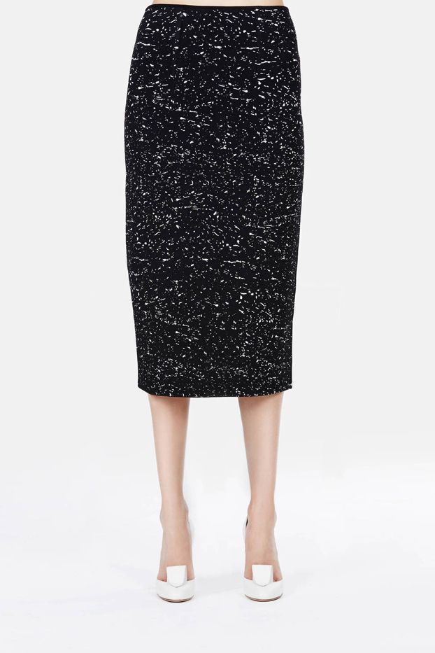 Proenza Schouler Splatter Print High Waisted Knit Skirt