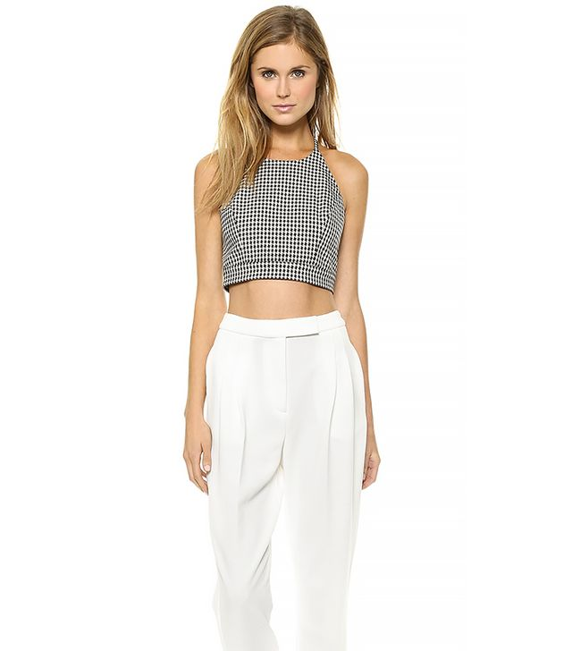 Sachin & Babi Maria Open Back Crop Top