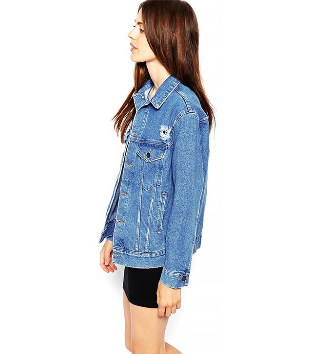 ASOS Denim Jacket With Raw Edge