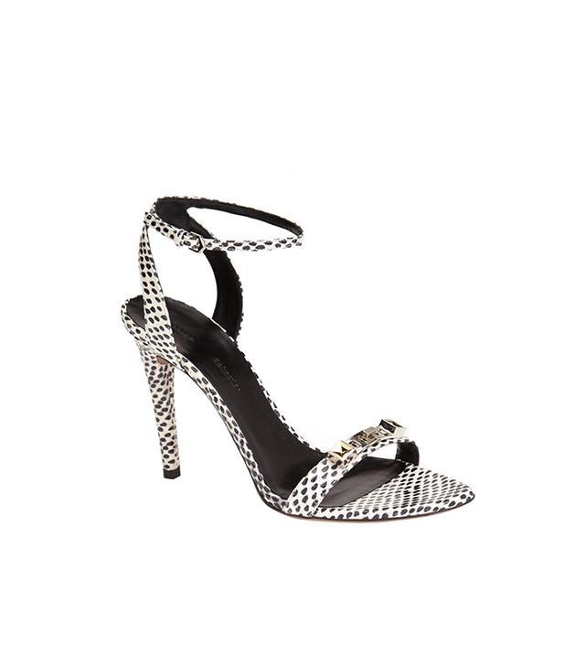 Proenza Schouler Ankle Strap Snakeskin Sandals