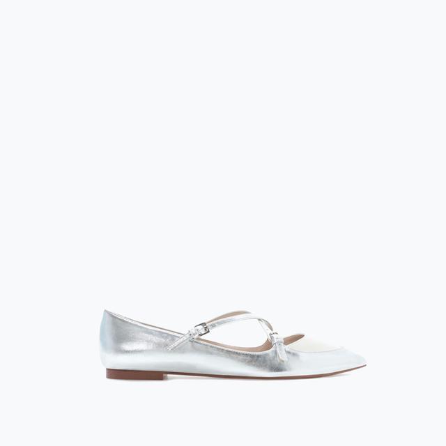 Zara Pointed Ballerina Flats