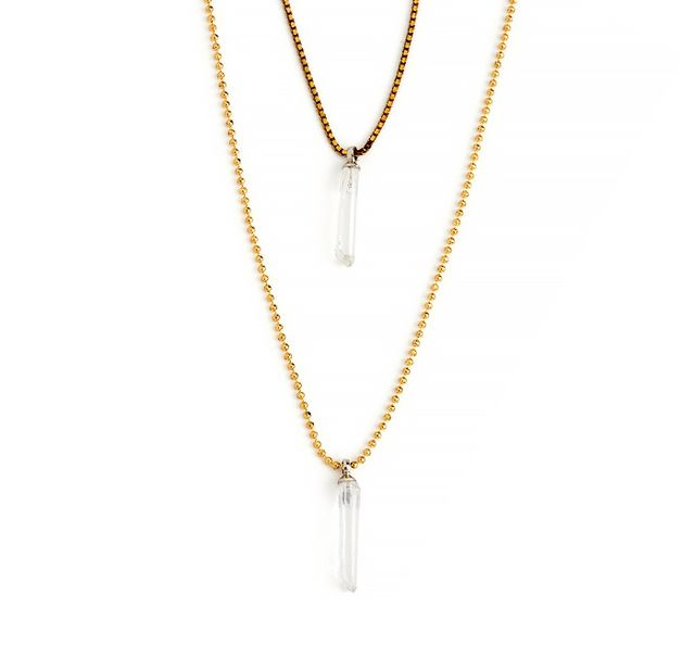 Serefina Double Layer Crystal Quartz Necklace