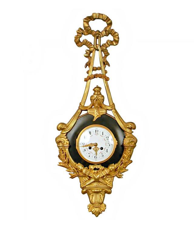 1st Dibs 24 karat Gold Plated Wall Clock