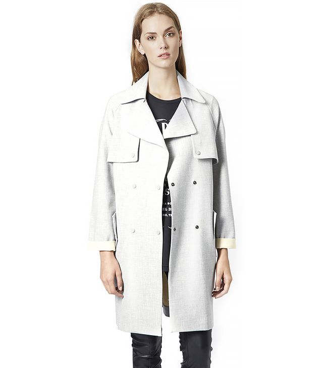 Topshop Soft Bonded Trench Coat