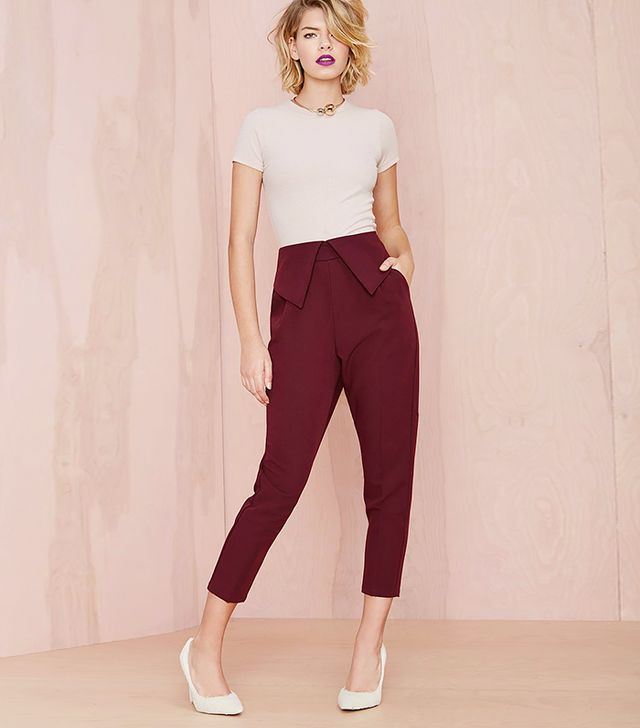 Nasty Gal Fold Ya So Trousers