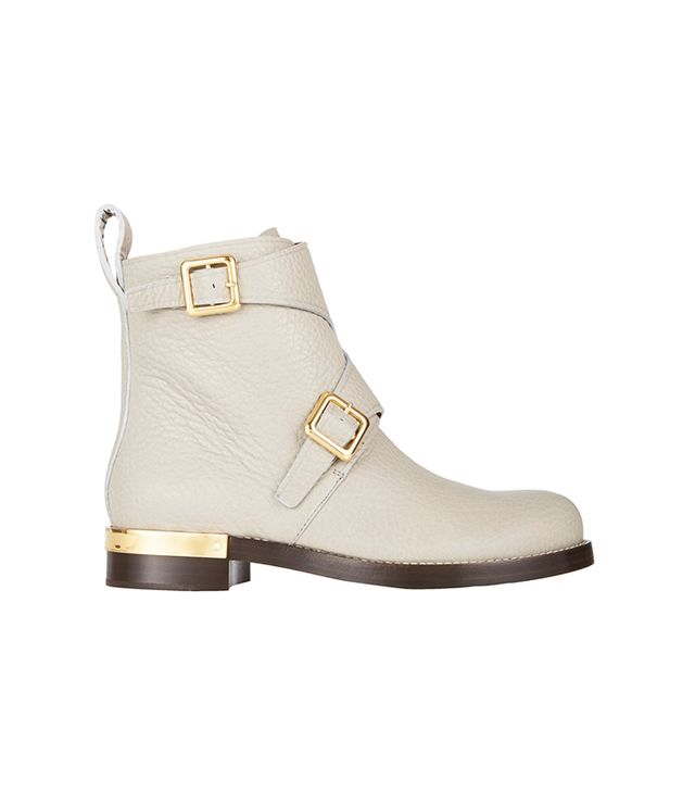 Chloe Double-Buckle Ankle Boots