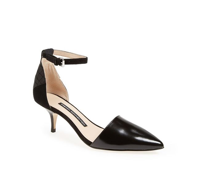 French Connection Enora d'Orsay Leather Pumps