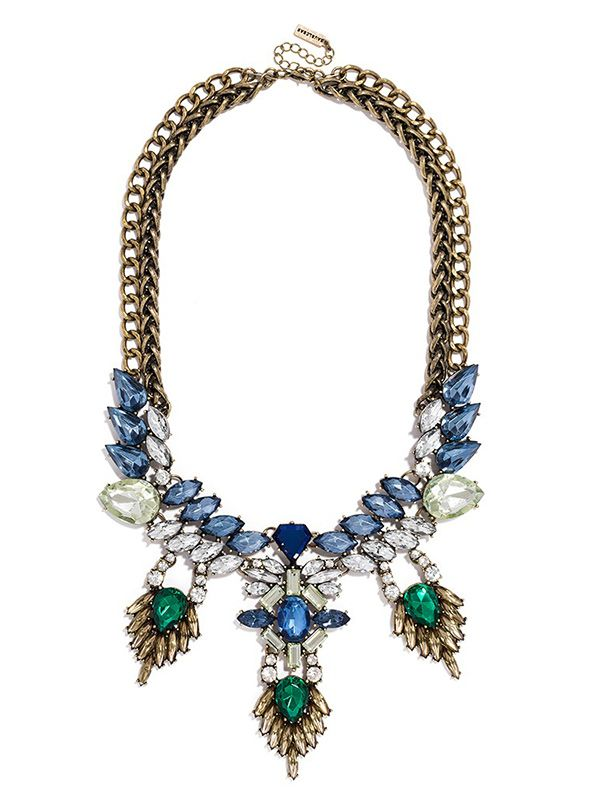 BaubleBar Sapphire Cascade Bib Necklace