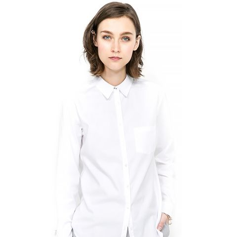 Chest-Pocket Cotton Shirt