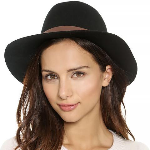 Wool Felt Medium Brim Hat