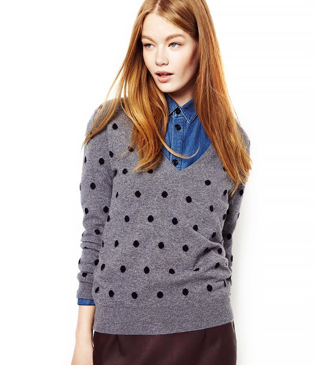 CC Cashmere by John Laing Polka Dot Sweater in Cashmere