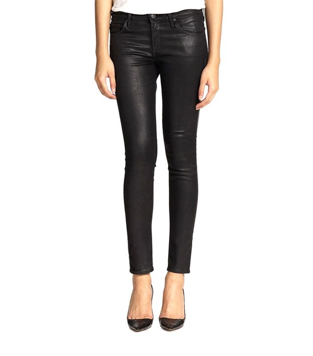 AG Adriano Goldschmied Leatherette Coated Denim Leggings