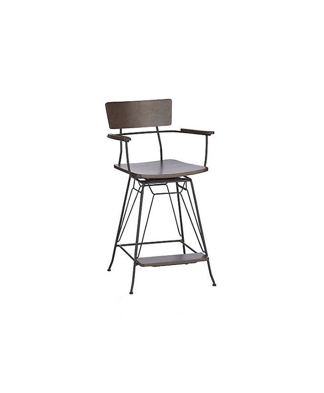Crate & Barrel Elston Swivel Bar Stools