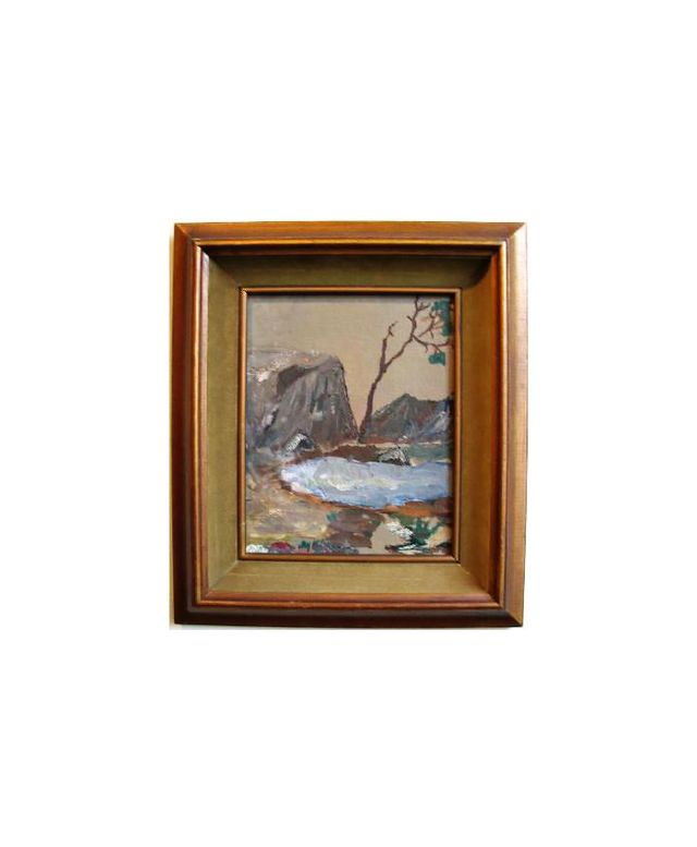 Lost Art Salon Framed Vintage Oil Painting by Peter Witwer