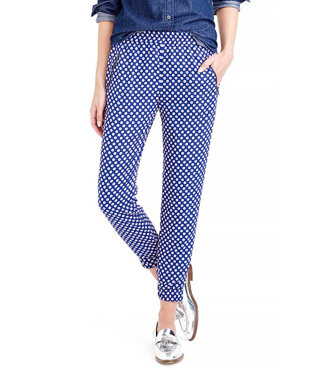 J. Crew Turner Pant in Medallion Foulard