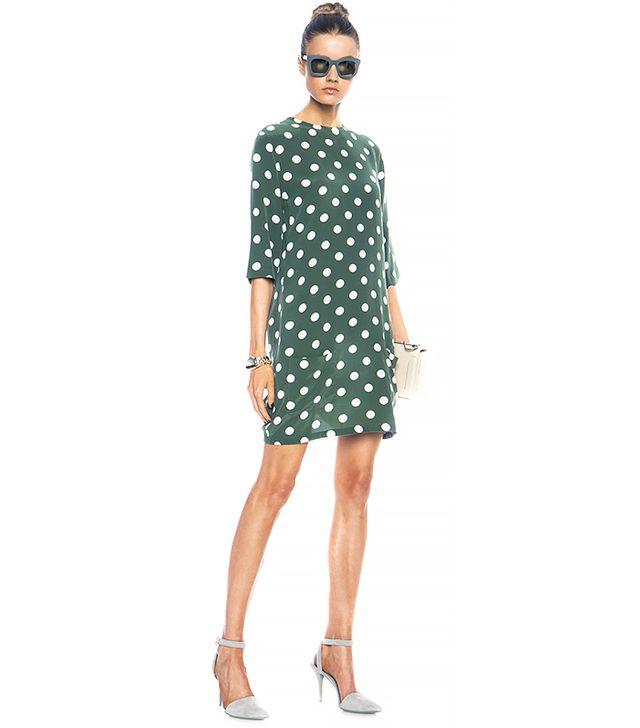 Equipment Aubrey Polka Dot Silk Dress