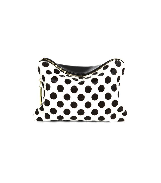 3.1 Phillip Lim Polka Dot Mixed-Media Cosmetic Case