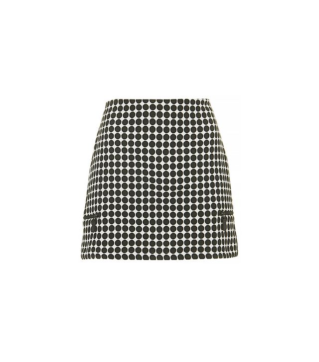 Topshop Tall Monochrome Spot Skirt