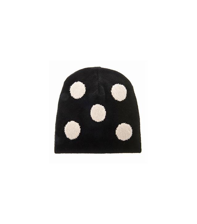 Ami Oversized Polka-Dot Wool Beanie