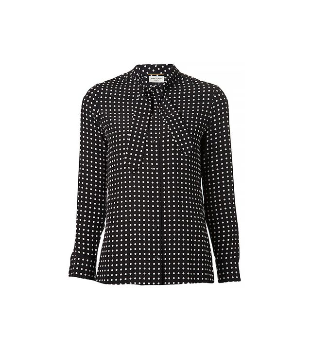 Saint Laurent Polka Dot Blouse