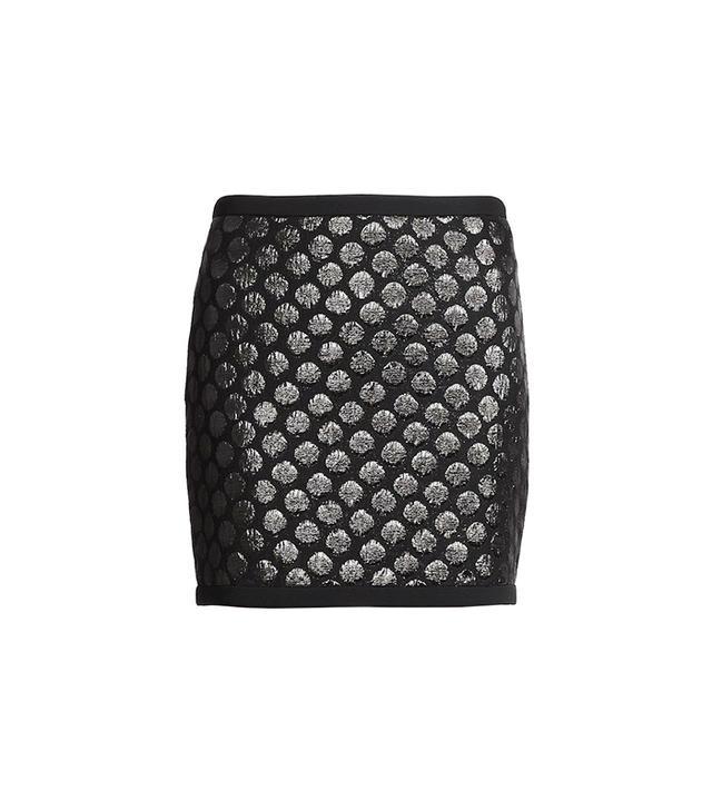 Moschino Polka Dot Cloqué Skirt